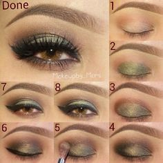 Eye Makeup for Hazel Eyes | Makeup for hazel eyes Makeup For Brown Eyes, Eye Makeup For Hazel Eyes, Hazel Green Eyes, Eyeshadow For Brown Eyes, Eyeshadow Looks, Smokey Eye Makeup, Smoky Eye, Makeup Junkie, Skin Makeup