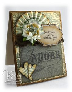 Love the paper fan on this card.