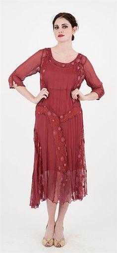 Nataya Vintage Dress 171 Burnt Red dress,Nataya Downton Abbey Dresses,Nataya Vintage style dresses,Nataya vintage inspired wedding gowns,