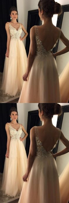 V-Neck Prom Dresses With Appliques, Beaded Long A-line Tulle Prom Dresses, Long Evening Dress, Shop plus-sized prom dresses for curvy figures and plus-size party dresses. Ball gowns for prom in plus sizes and short plus-sized prom dresses for Flowy Prom Dresses, Beaded Prom Dress, Formal Dresses, Dress Prom, Dress Lace, Long Dresses, Prom Gowns, Party Dresses, Tulle Lace