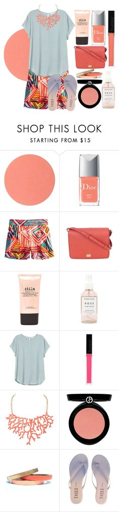 """""""Untitled #554"""" by ssm1562 ❤ liked on Polyvore featuring beauty, Chantecaille, Christian Dior, J.Crew, Dolce&Gabbana, Stila, Herbivore Botanicals, H&M, Butter London and Humble Chic"""