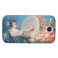 Allegory of painting Boucher Francois rococo lady Samsung Galaxy S4 Covers #allegory #painting #boucher #Paris #France #art #woman #girl #cherubs #angels #rococo #accessory #gifts #classic #customizable #home #decoration