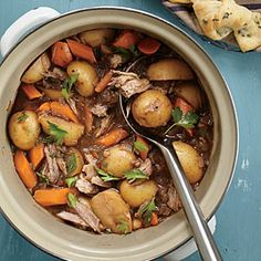 Braised Oxtail and Short Rib Stew Recipe | Cooking Light #myplate #protein #veggies