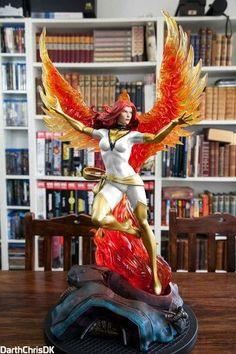 Epic white Phoenix figure! Jean Grey Phoenix, Dark Phoenix, Hulk Sketch, Marvel Statues, Geek Toys, Crazy Toys, Modelos 3d, Marvel Girls, Figure Model