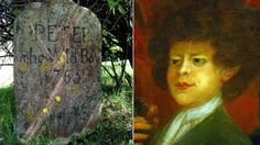 Peter the wild boy's grave and a portrait of him