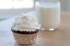 food, cupcake, and milk image