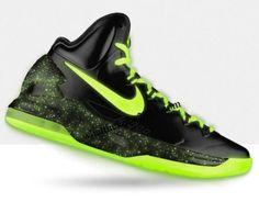 e9ce46b09ce6 kevin durant shoes 2013 Nike KD V Black Fluorescent Green