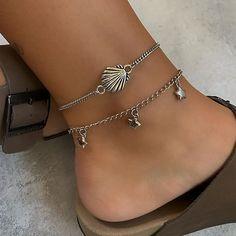 Anklet Bracelet, Ring Necklace, Anklets, Bracelets, Earrings, Birkenstock, Heart Choker, Jewelry Stores, Piercings