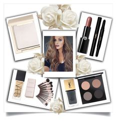 """""""White Roses"""" by bren-johnson ❤ liked on Polyvore featuring beauty, Giorgio Armani, Jouer, Yves Saint Laurent and MAC Cosmetics"""
