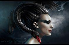 """Black Swan"" by Ana Fagarazzi on http://Shadowness.com/AnaFagarazzi #AnaFagarazzi #Inspiration #Painting #Art"