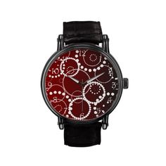 Red Water Drops Watch