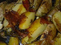 Rychlé slaninové brambory - Naše Dobroty na každý den French Toast, Pork, Meat, Chicken, Breakfast, Kale Stir Fry, Morning Coffee, Pork Chops, Cubs