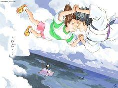 haku chihiro falling - Google Search