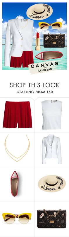 """""""Paint Your Look With Canvas by Lands' End: Contest Entry"""" by spark21h ❤ liked on Polyvore featuring Canvas by Lands' End, Lana, Lands' End, Eugenia Kim, Dolce&Gabbana, Chanel and Yves Saint Laurent"""