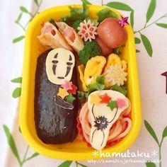 Kaonashi and confetti  bento