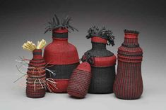 "Sherri West | Nature/Nurture; 10'x5""x3"", Waxed Linen and Waxed Cotton Linen Baskets, Basket Weaving, Fiber Art, Wax, Pottery, Organization, Gallery, Artist, Nature"