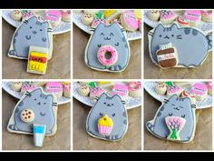 I made Pusheen Cat Cookies. In this video I show you step by step how to decorate several shapes of adorable Pusheen Cat cookies and miniature food cookies. ...