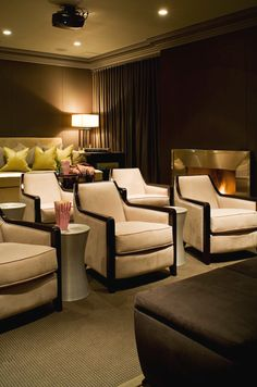 Luca&Luca offers a list of home theater ideas necessary for every media room. Let us find you a vacation rental that has a home theater. Home Theater Rooms, Cinema Room, Home Theater Design, Entertainment Room, Basement Remodeling, Remodeling Ideas, Kitchen Remodeling, Sweet Home, New Homes