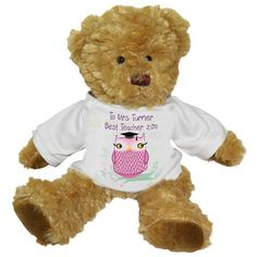 Personalised Graduation Teddy Bear - Miss Owl  from Personalised Gifts Shop - ONLY £16.95