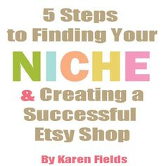Hello! I have created a simple 27-page instant digital download ebook to give you a little bit of inspiration when searching for your niche