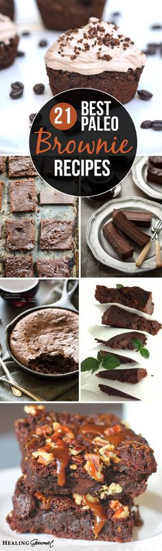 Love brownies, gone Paleo? We've found the perfect Paleo brownie recipe for every taste, cooking level and dietary need from around the web. Paleo Sweets, Paleo Dessert, Dessert Recipes, Healthy Treats, Healthy Desserts, Healthy Foods, Healthy Recipes, Real Food Recipes, Yummy Food