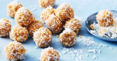 A favourite dessert is turned into a healthy snack with these quick and easy apple crumble bliss balls.
