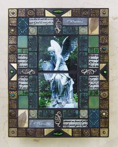 angel mosaic, polymer clay, by Phyllis Pollema-Cahill | by phyllispollema-cahill