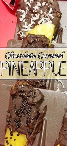 Just like Edible Arrangements chocolate covered pineapple! Chocolate Covered Pineapple, Chocolate Covered Strawberries, Chocolate Art, Chocolate Recipes, Edible Arrangements, Health Desserts, Creative Food, Yummy Cakes, Cooking Recipes