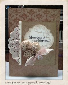 Stampin' Up! Thoughts and Prayers Sympathy Card
