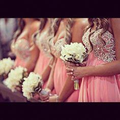 Beautiful bridesmaid dresses - My wedding ideas Wedding Wishes, Wedding Bells, Wedding Events, Perfect Wedding, Dream Wedding, Wedding Day, Wedding Stuff, Fantasy Wedding, Blue Wedding