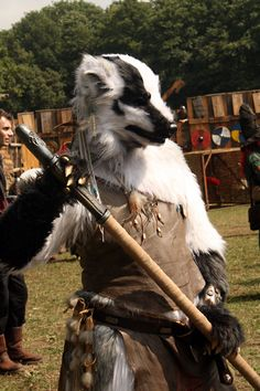 Made for Larp in Denmark. Built in foam, foam and more foam. And a lot of fur.