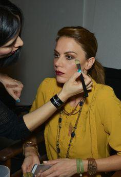 Tulin Sahin Prepares Backstage at Simay Bulbul #MBFWI #beauty #backstage #fashionweek #runway #lips #lipstick