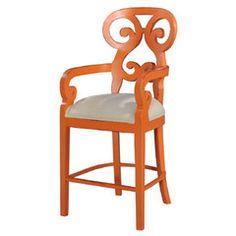 Bertram Counter Stool in Orange