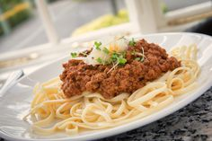 From the children's menu! Spaghetti Bolognese.  Kids menu. Kids food. Lunch time idea.