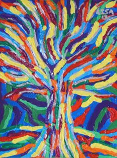 Welcome to an extremely colourful tree of life painted by my good self. This comes with its very own unique frame,which is an extension of the itself Colourful Art, Colorful Trees, Colorful Paintings, Art Paintings, Tree Of Life Art, Tree Art, Awesome Art, Cool Art, Panda Art