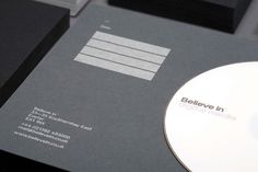 Business cards, CD mount card and direct mailer _ by Believe In, an English design and branding company _