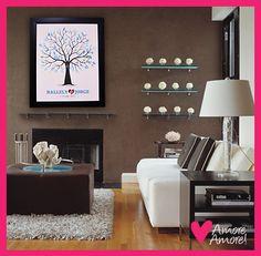 El árbol de huellas lo puedes usar para decorar tu hogar