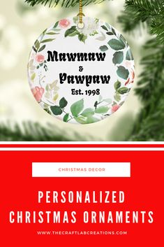 Personalized Christmas ornament for grandparents will be the perfect gift this Christmas season. We all have special names for our grandparents why not gift them such an ornament to express your love for them. Personalized Family Gifts, Personalized Christmas Ornaments, Christmas Tree Decorations, Christmas Tree Ornaments, Holiday Decor, Grandparents, Gifts For Mom, Names, Lab