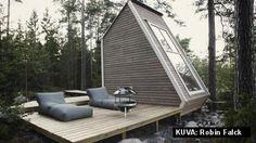 Finnish minicottage: lounge and sleeping space in 8,9 qm. Lovely. Suomalaista minimökkiä kehutaan maailmalla: Ei tarvitse rakennuslupaa!