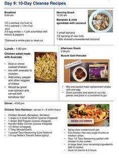Day 9 advocare challenge meal ideas