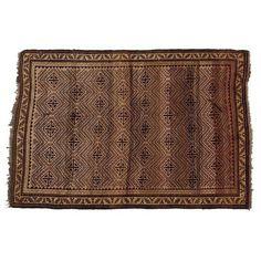 "Vintage Persian Baluchi Rug - 4'9"" x 6'9"" | Chairish"