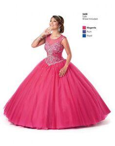 glamous tyll ballkole quinceanera kjoler