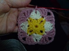 The 8th Gem: Week 12: Granny...a square in a sq in a sq. ☀ CQ #crochet