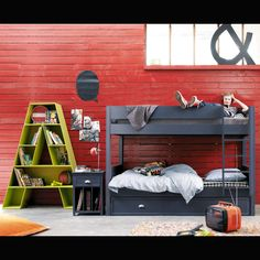 Shop for teen furniture at Maisons du Monde. From cool armchairs to chic dressing tables, find the perfect pieces to bring your teen's room to life. Ikea Kallax Hack, Kallax Shelf, Boy Room, Kids Room, Modern Interior, Interior Design, Bunk Beds, Bookcase, Shelves
