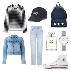 Casual Outfit by salmanabilaaah on Polyvore featuring polyvore Play Comme des Garçons Yves Saint Laurent Converse Givenchy Daniel Wellington SO Chanel fashion style clothing