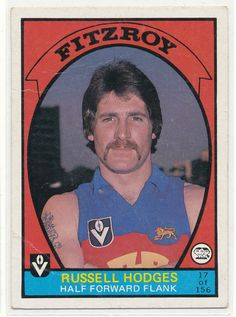 SCANLENS 1978 VFL AFL FOOTY CARD RUSSELL HODGES FITZROE LIONS 17 BRISBANE au.picclick.com Football Cards, Football Players, Baseball Cards, Australian Football, Player Card, Brisbane, Lions, Your Cards, The Past