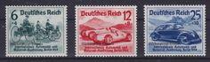Deutsches Reich 1939 Nr. 695 - 697  Nürburgring Rennen