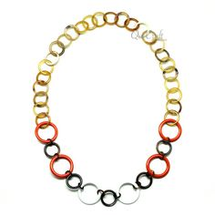 QueCraft Horn & Lacquer Chain Necklace - Q12164