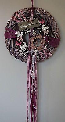 Door wreath door decoration welcome spring summer flower with bird in Diy Wreath, Door Wreaths, Grapevine Wreath, Christmas Diy, Christmas Wreaths, Year Round Wreath, Welcome Spring, Welcome Wreath, Cold Porcelain