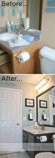 algumas dicas para mudar o visual do seu banheiro gastando pouco
